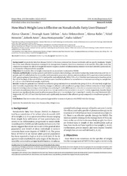 Vol 13: How Much Weight Loss is Effective on Nonalcoholic Fatty Liver Disease