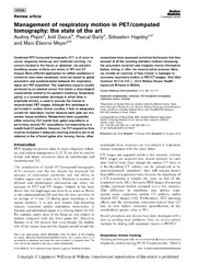 Vol 35: Management of respiratory motion in PET-computed tomography: the state of the art.