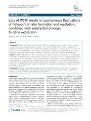 Vol 14: Loss of WSTF results in spontaneous fluctuations of heterochromatin formation and resolution, combined with substantial changes to gene expression.