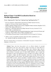 Vol 13: Robust Finger Vein ROI Localization Based on Flexible Segmentation.