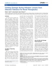 Vol 12: Limiting Damage during Infection: Lessons from Infection Tolerance for Novel Therapeutics.