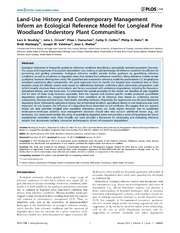 Vol 9: Land-Use History and Contemporary Management Inform an Ecological Reference Model for Longleaf Pine Woodland Understory Plant Communities.