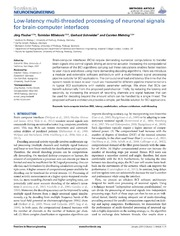 Vol 7: Low-latency multi-threaded processing of neuronal signals for brain-computer interfaces.