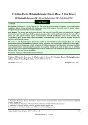 Vol 5: Fetishism Due to Methamphetamine (Glass) Abuse: A Case Report.