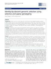 Vol 46: Identity-by-descent genomic selection using selective and sparse genotyping.