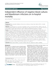Vol 14: Independent influence of negative blood cultures and bloodstream infections on in-hospital mortality.