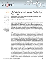 Vol 4: PCMdb: Pancreatic Cancer Methylation Database.