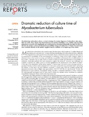 Vol 4: Dramatic reduction of culture time of Mycobacterium tuberculosis.