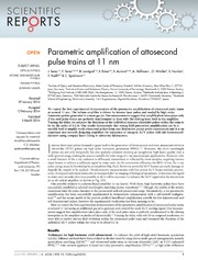Vol 4: Parametric amplification of attosecond pulse trains at 11 nm.