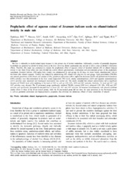 Vol 8: Prophylactic effect of aqueous extract of Sesamum indicum seeds on ethanol-induced toxicity in male rats.