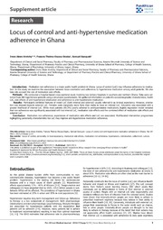 Vol 17: Locus of control and anti-hypertensive medication adherence in Ghana.