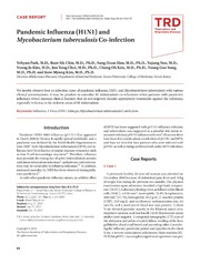 Vol 76: Pandemic Influenza H1N1 and Mycobacterium tuberculosis Co-infection.
