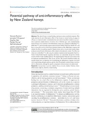 Vol 7: Potential pathway of anti-inflammatory effect by New Zealand honeys.