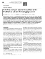 Vol 16: Selective androgen receptor modulators for the treatment of late onset male hypogonadism.