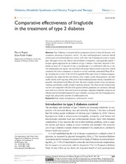 Vol 7: Comparative effectiveness of liraglutide in the treatment of type 2 diabetes.