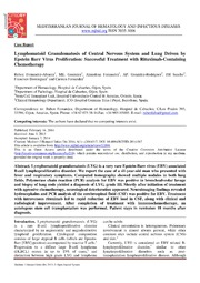 Vol 6: Lymphomatoid Granulomatosis of Central Nervous System and Lung Driven by Epstein Barr Virus Proliferation: Successful Treatment with Rituximab-Containing Chemotherapy.