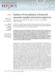 Vol 4: Isolation of microplastics in biota-rich seawater samples and marine organisms.