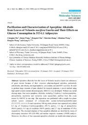 Vol 15: Purification and Characterization of Aporphine Alkaloids from Leaves of Nelumbo nucifera Gaertn and Their Effects on Glucose Consumption in 3T3-L1 Adipocytes.