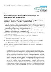 Vol 15: Current Progress in Bioactive Ceramic Scaffolds for Bone Repair and Regeneration.