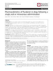 Vol 7: Pharmacokinetics of fluralaner in dogs following a single oral or intravenous administration.