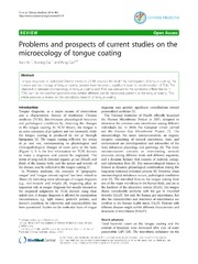 Vol 9: Problems and prospects of current studies on the microecology of tongue coating.