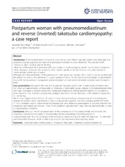 Vol 8: Postpartum woman with pneumomediastinum and reverse inverted takotsubo cardiomyopathy: a case report.