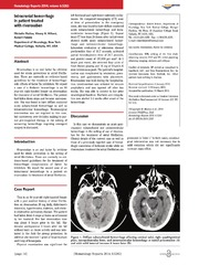 Vol 6: Intracranial Hemorrhage in Patient Treated with Rivaroxaban.