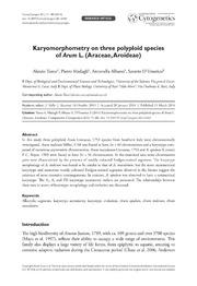 Vol 8: Karyomorphometry on three polyploid species of Arum L. Araceae, Aroideae.
