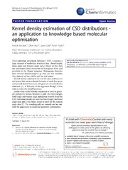 Vol 6: Kernel density estimation of CSD distributions - an application to knowledge based molecular optimisation.