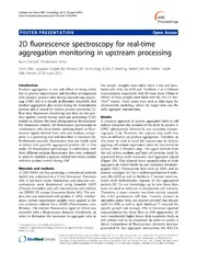 Vol 7: 2D fluorescence spectroscopy for real-time aggregation monitoring in upstream processing.