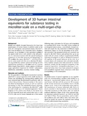 Vol 7: Development of 3D human intestinal equivalents for substance testing in microliter-scale on a multi-organ-chip.