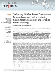 Vol 4: Self-tuning Wireless Power Transmission Scheme Based on On-line Scattering Parameters Measurement and Two-side Power Matching.