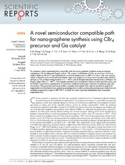 Vol 4: A novel semiconductor compatible path for nano-graphene synthesis using CBr4 precursor and Ga catalyst.