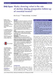 Vol 4: Shaky drawing: what is the rate of decline during prospective follow-up of essential tremor