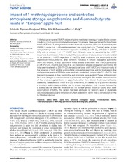 Vol 5: Impact of 1-methylcyclopropene and controlled atmosphere storage on polyamine and 4-aminobutyrate levels in Empire apple fruit.