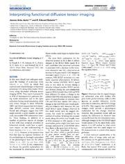 Vol 8: Interpreting functional diffusion tensor imaging.