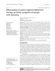Vol 9: Effectiveness of online cognitive behavioral therapy on family caregivers of people with dementia.