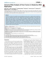 Vol 9: Genome-Wide Analysis of Host Factors in Nodavirus RNA Replication.