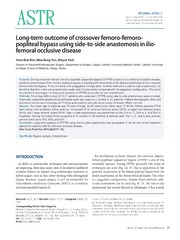Vol 86: Long-term outcome of crossover femoro-femoro-popliteal bypass using side-to-side anastomosis in ilio-femoral occlusive disease.