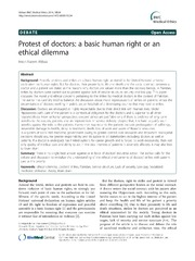 Vol 15: Protest of doctors: a basic human right or an ethical dilemma.