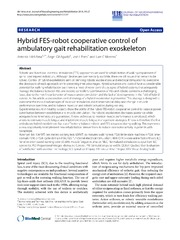 Vol 11: Hybrid FES-robot cooperative control of ambulatory gait rehabilitation exoskeleton.