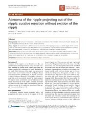 Vol 12: Adenoma of the nipple projecting out of the nipple: curative resection without excision of the nipple.