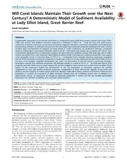 Vol 9: Will Coral Islands Maintain Their Growth over the Next Century A Deterministic Model of Sediment Availability at Lady Elliot Island, Great Barrier Reef.