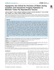 Vol 8: Aquaporins Are Critical for Provision of Water during Lactation and Intrauterine Progeny Hydration to Maintain Tsetse Fly Reproductive Success.