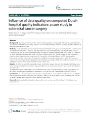 Vol 14: Influence of data quality on computed Dutch hospital quality indicators: a case study in colorectal cancer surgery.