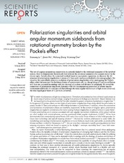 Vol 4: Polarization singularities and orbital angular momentum sidebands from rotational symmetry broken by the Pockels effect.