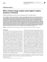 Vol 3: When climate change couples social neglect: malaria dynamics in Panam
