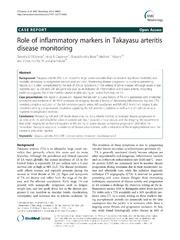 Vol 14: Role of inflammatory markers in Takayasu arteritis disease monitoring.