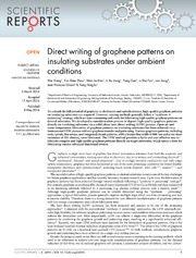 Vol 4: Direct writing of graphene patterns on insulating substrates under ambient conditions.