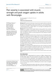 Vol 7: Pain severity is associated with muscle strength and peak oxygen uptake in adults with fibromyalgia.
